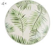 Piattino da dessert con motivo tropicale Jade 4 pz