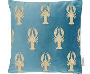 Cuscino in velluto ricamato con imbottitura Lobster