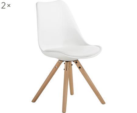 Sedia con seduta in similpelle Max 2 pz