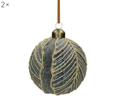 Palla di Natale Leaf Ø 8 cm, 2 pz