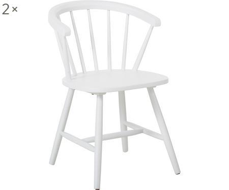 Sedia con braccioli in legno Megan 2 pz