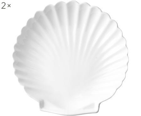 Piatto piano a forma di conchiglia Shell 2 pz