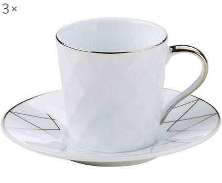 Set 6  tazzine da caffè Lux