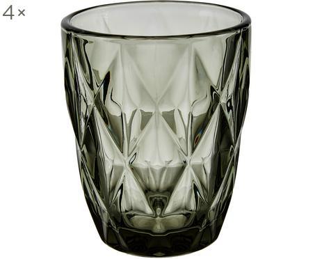 Bicchiere acqua con motivo a rilievo Colorado 4 pz