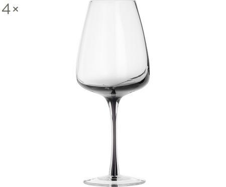Bicchiere da vino bianco in vetro soffiato Smoke 4 pz