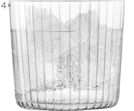 Bicchiere acqua in vetro soffiato Gio 4 pz