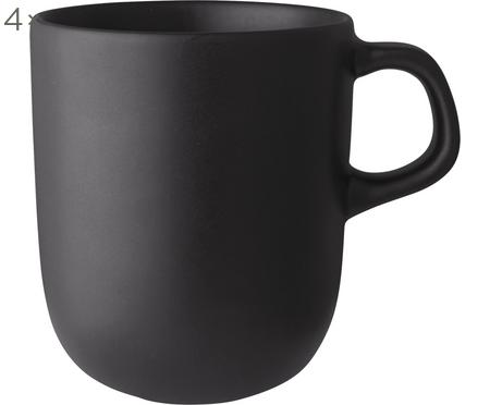 Tazza nera opaca Nordic Kitchen 4 pz