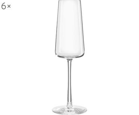 Flute champagne in cristallo a forma di cono Power 6 pz