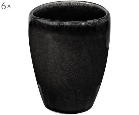 Tazza in terracotta fatta a mano Nordic Coal 6 pz