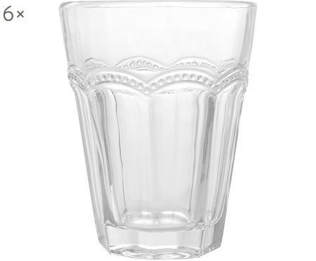 Bicchiere acqua con motivo in rilievo Floyd 6 pz