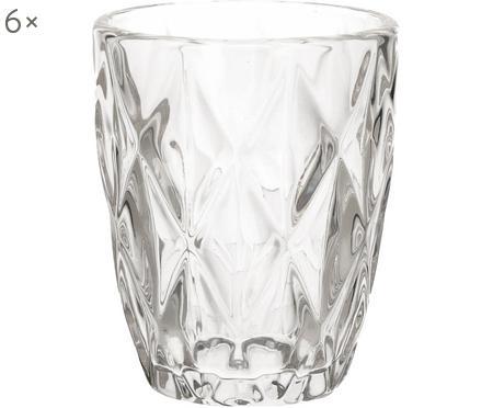 Bicchiere acqua in vetro Diamond 6 pz