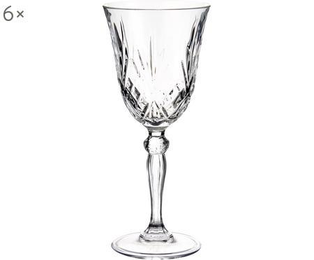 Bicchiere da vino bianco in cristallo Melodia 6 pz