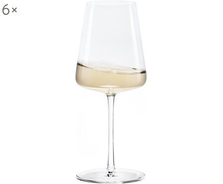 Bicchiere vino bianco in cristallo a forma di cono Power 6 pz