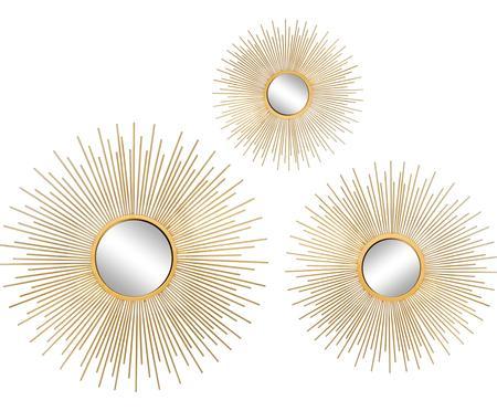 Set specchi da parete Sun 3 pz