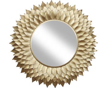 Specchio da parete con cornice dorata Petal