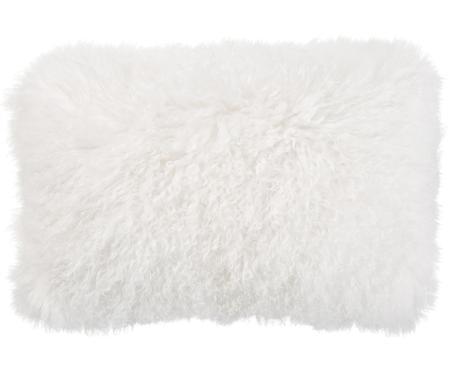 Federa arredo in pelliccia d'agnello a pelo lungo Ella