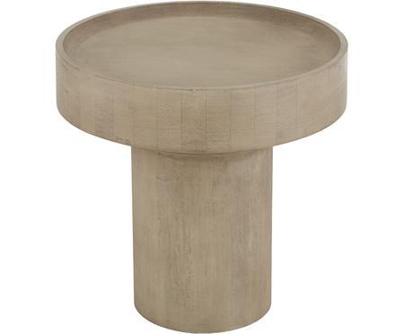 Tavolino rotondo in legno di mango Benno