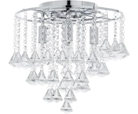 Plafoniera con cristalli in vetro Dorchester