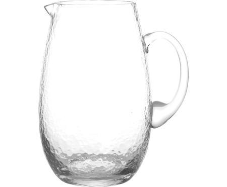 Brocca in vetro soffiato con supertifice martellata Hammered, 2 L