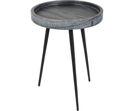 Tavolino rotondo in marmo Karrara