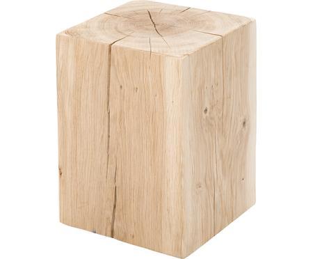 Sgabello in legno di quercia massiccio Block