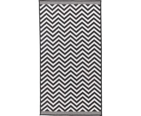 Tappeto reversibile da interno-esterno con motivo zigzag Palma