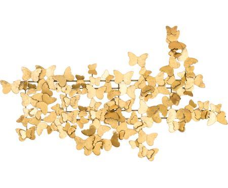 Decorazione da parete in metallo effetto antico Butterfly