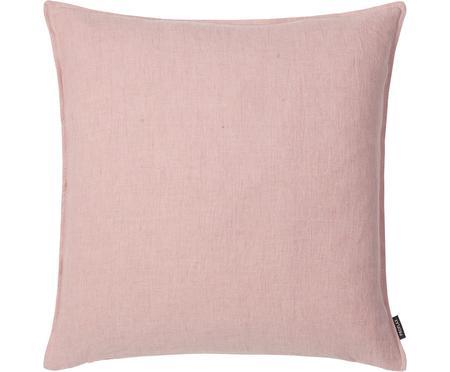 Federa arredo in lino rosa Sven