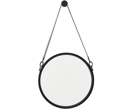 Specchio da parete rotondo con cinturino in pelle Liz