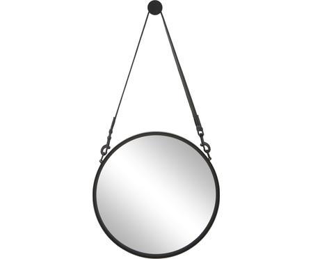Specchio rotondo da parete con cinghia in pelle Liz
