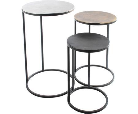 Set 3 tavolini in metallo Calvin