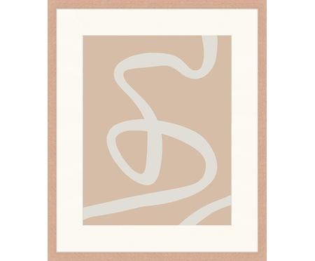 Stampa digitale incorniciata Beige Drawing