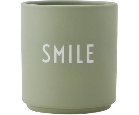 Tazza di design verde Favourite SMILE