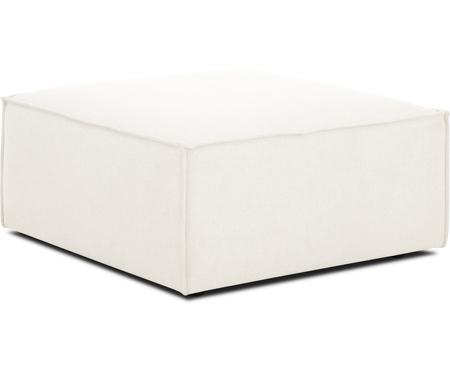 Poggiapiedi da divano in tessuto beige Lennon
