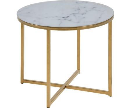 Tavolino con piano in vetro marmorizzato Antigua