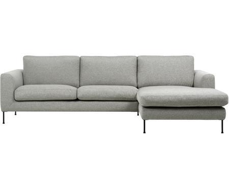 Divano angolare 3 posti in tessuto grigio chiaro Cucita