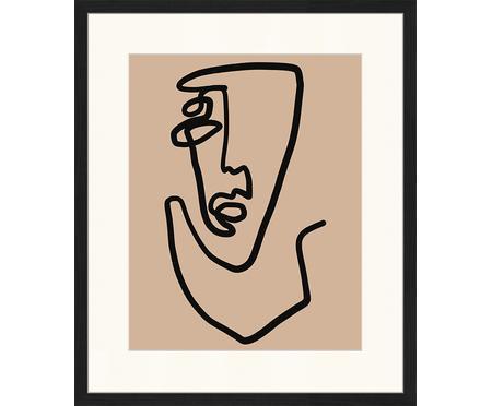 Stampa digitale incorniciata Abstract Face
