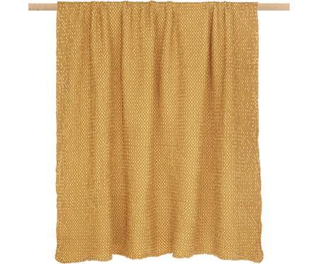 Plaid in cotone giallo dorato Vigo