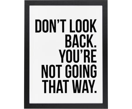 Stampa digitale incorniciata Don't Look Back