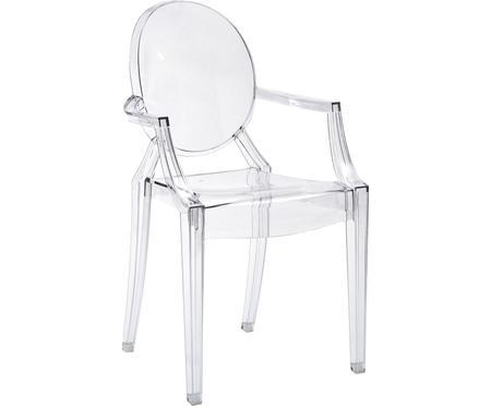Sedia trasparente con braccioli  Louis Ghost