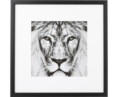 Stampa digitale incorniciata Lion Close Up