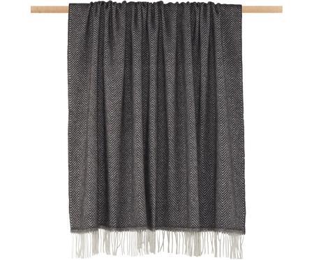 Plaid in lana merino con motivo a zigzag Aubrey