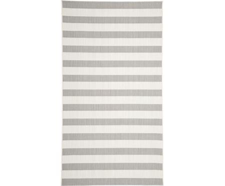 Tappeto grigio/bianco a righe da interno-esterno Axa