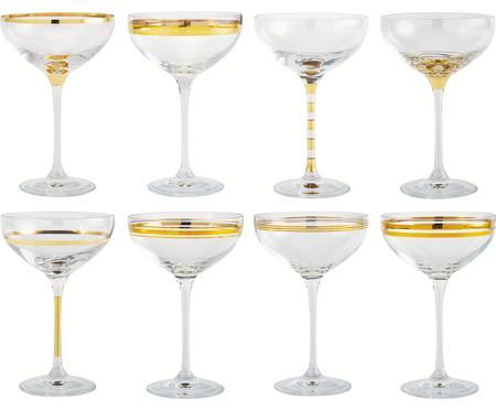 Set di 8 coppe da champagne Deco