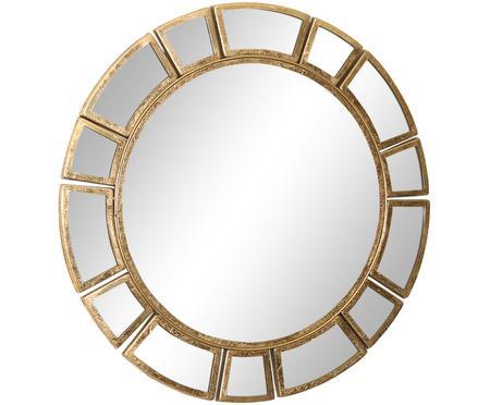 Specchio da parete rotondo con cornice dorata Amy