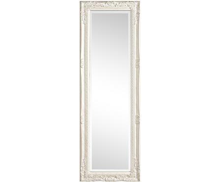 Specchio da parete quadrato con legno bianco Miro