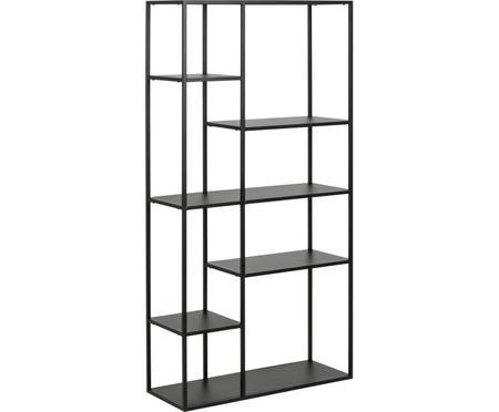 Libreria in metallo in nero Newton