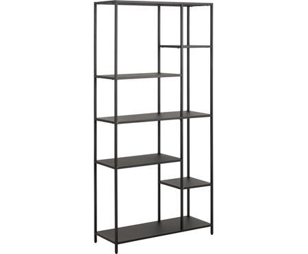 Libreria in metallo nera Newton