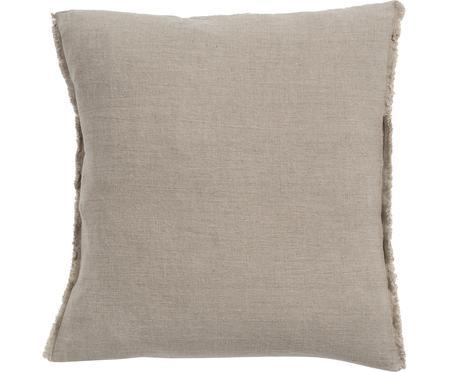 Cuscino in lino con imbottitura Sunshine Fringe