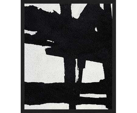 Stampa digitale incorniciata Abstract Black